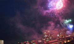 fuegos artificiales numazu Kano River, Festival de Verano numazu - Día 2 -