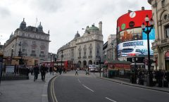 ~ From London tourism - Piccadilly Circus to Kings Cross