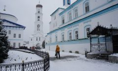 In search of water of Kazan tourism - God to Raiffeisen monastery in the snow ② ~