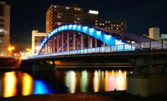 Try walking Numazu night scene ② ~ along the Kano River in the ultra-sensitive camera -