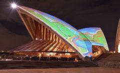 夜景拍攝歌劇院的投影映射!從悉尼塔眼環形碼頭穿透悉尼中心地帶