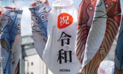 Numazu carp streamer Festival of Ryowa first year be held in Kano River riverbed! - the day before Hen