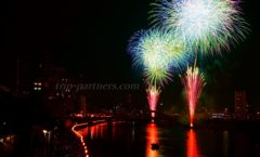 "Ryowahatsu Numazu summer festival ""Kano River fireworks display"" this year challenge in two possession SLR!"