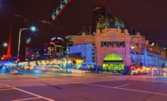 """Flinders Street Station"" which became a model of the Ghibli movie ""Kiki's Delivery Service"""