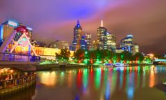 Walking along the Yarra River that flows through Melbourne ~A riverside with a beautiful night view~